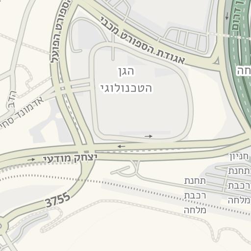 סופר Waze Livemap - מסלול נסיעה אל חניון הגן הטכנולוגי - מלחה, ירושלים RX-24